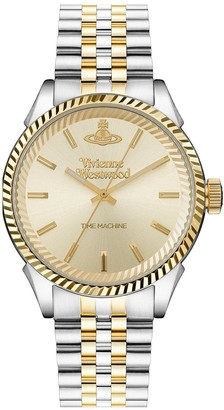 Vivienne Westwood Seymour Champagne Gold Sunray Dial Two Tone Stainless Steel Jubilee Bracelet Watch