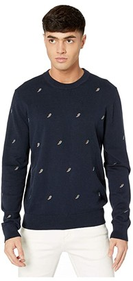 Paul Smith PS Flash Embroidered Sweater (Dark Navy) Men's Clothing