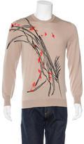 Alexander McQueen Embroidered Wool Sweater