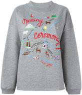 Opening Ceremony map embroidery sweatshirt - women - Cotton - S