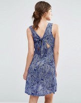 Brave Soul Print Tie Back Dress