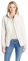 7 For All Mankind Women's Fitted Barn Jacket with Zip Out Hood
