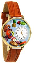 Whimsical Watches Women's G1220037 Unisex Gold Holiday Feast Gold Leather And Goldtone Watch
