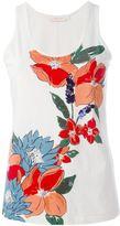 Tory Burch sequin floral vest - women - Cotton - M