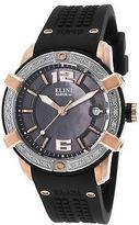Elini Barokas 20005D-RG-01-SB Women's Spirit Diamond Black Silicone and