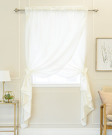 Best Home Fashion Ivory Overlap Curtain Panel
