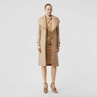 Burberry Detachable Collar Cotton Gabardine Trench Coat
