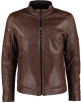 Strellson Maine Leather Jacket Mittelbraun