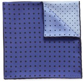 Lanvin Colourblock dot print silk twill pocket square
