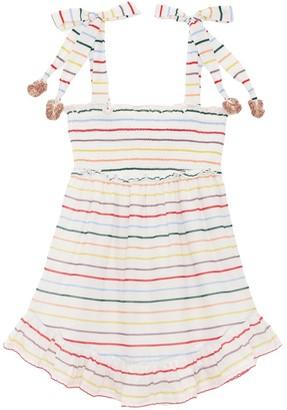 Zimmermann Kids Zinnia Ruffle Dress in Ivory Multi