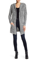 Joseph A Eyelash Hooded Cardigan