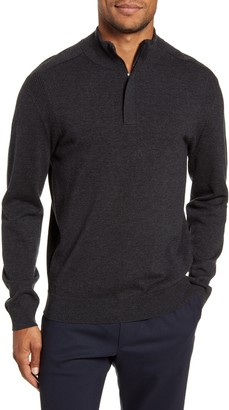 BOSS Bacelli Regular Fit Quarter Zip Sweater