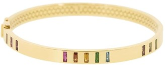 Harwell Godfrey 18kt Yellow Gold Sapphire Rainbow Bangle