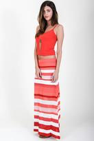 Goddis Carly Maxi Skirt In Spanish Red