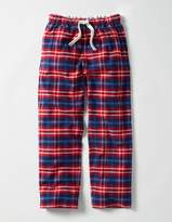 Brushed Check Bottoms Engine Red Check Boys Boden