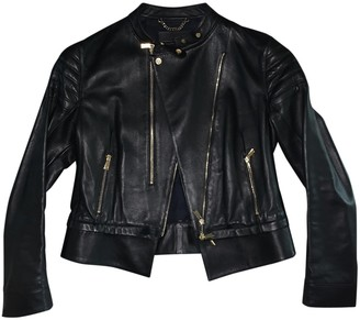 Porsche Design Black Leather Leather Jacket for Women