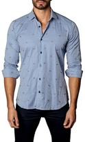 Jared Lang Foxy Gingham Trim Fit Shirt
