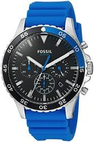 Fossil Mens CH3055 Crewmaster Sport Chronograph Blue Silicone Watch