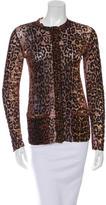 Jean Paul Gaultier Mesh Leopard Print Cardigan