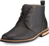 Original Penguin Merle Leather Lace-Up Chukka Boot, Black