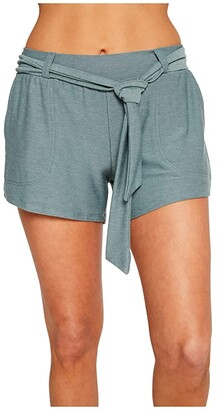 Chaser Cozy Knit Shorts w/ Belt (Succulent) Women's Shorts