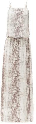 Heidi Klein Al Snake-print Poplin Maxi Dress - Snake