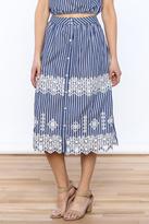 Lulumari Stripe Midi Skirt