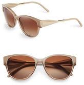 Burberry 56mm Gabardine Cat-Eye Sunglasses
