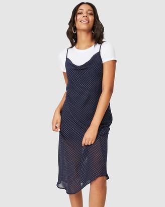 Cotton On Women's Blue Midi Dresses - Woven Roxy Midi Slip - Size XS at The Iconic