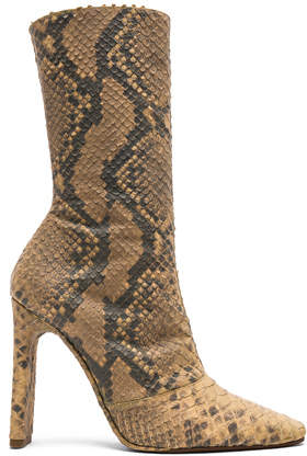 Yeezy Season 6 Python Embossed Ankle Boots