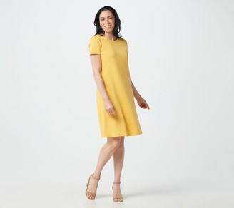 Isaac Mizrahi Live! Regular Solid or Printed Knit Dress