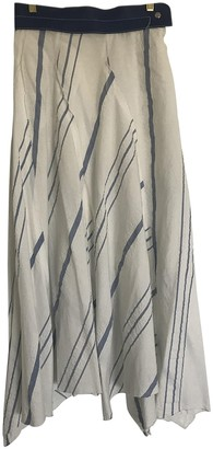 Loewe Ecru Cotton Skirt for Women