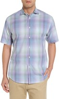 Thomas Dean Men's Classic Fit Shadow Check Sport Shirt