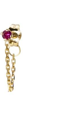 Irena Chmura Jewellery Magenta Sapphire Chain Earring Single
