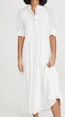 NEVER FULLY DRESSED White Panel Maxi Dress