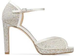 Jimmy Choo Lacia 100 Glitter Platform Sandals