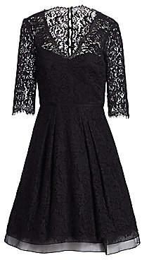 Carolina Herrera Women's Floral Lace Dress