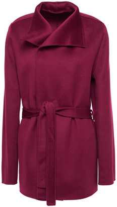 Joseph Lima Belted Wool And Cashmere-blend Felt Wrap Coat