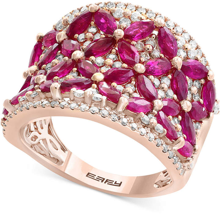 Effy Amore by Certified Ruby (3 ct. t.w.) & Diamond (7/8 ct. t.w.) in 14k Rose Gold