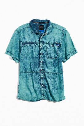 Kavu Max Acid Wash Short Sleeve Button-Down Shirt