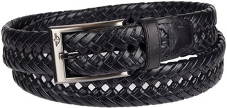 Dockers Men's Leather Braided Dress Belt