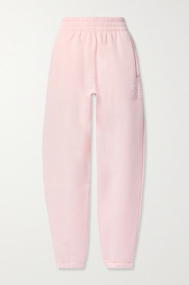 alexanderwang.t Printed Cotton-blend Jersey Track Pants - Pink