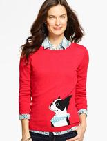 Talbots Boston Terrier Sweater