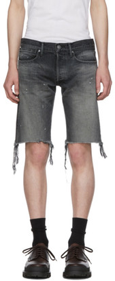 John Elliott Black Denim The Cast 2 Shorts