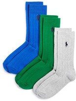 Ralph Lauren Boys' Rib Dress Socks, 3 Pack - Little Kid, Big Kid