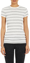 ATM Anthony Thomas Melillo Women's Striped Ribbed Jersey T-Shirt-WHITE, GREY, LIGHT GREY