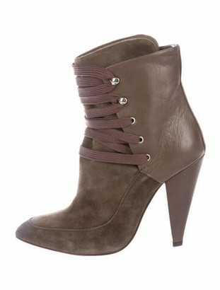 IRO Suede Lace-Up Boots Brown
