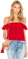 Amanda Uprichard Sleeveless Joanna Top in Red