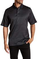 Bugatchi Stripe Mini Check Polo
