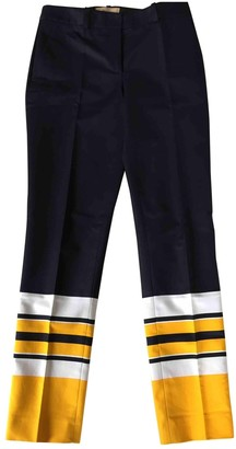 Michael Kors Blue Cotton Trousers